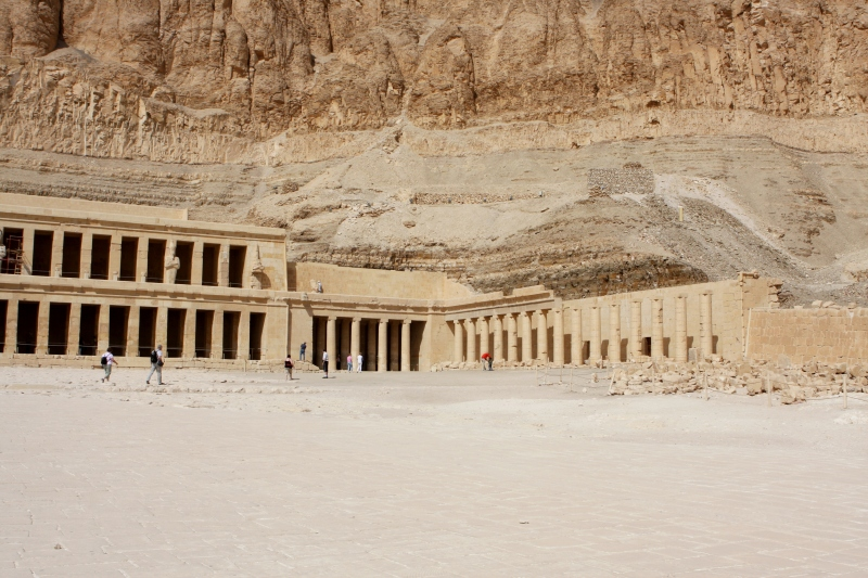 The Temple of Hatshepsut near the Valley of the Kings.